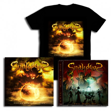 Pack CD Playing with Armageddon  + Evil Must Die + T-Shirt