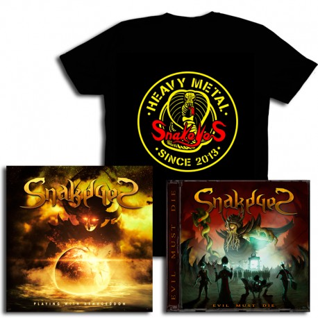 Pack CD Playing with Armageddon  + Evil Must Die +  Cobra T-Shirt